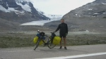 Sudbury, Ont. native Peter Ledingham, 41, is seen during his bike ride across Canada.