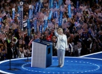 Democratic presidential candidate Hillary Clinton takes the stage during the final day of the Democratic National Convention, Thursday, July 28, 2016, in Philadelphia. (AP / John Locher)