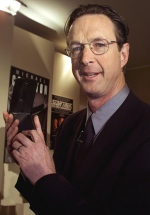 Michael Crichton is shown in this file photo. (AFP / Jeff Christensen)