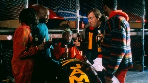 """In this image released by Fox, from left, Doug E. Doug, Malik Yoba, Rawle D. Lewis, John Candy and Leon are shown in a scene from """"Cool Runnings."""" (AP-HO, Fox/The Canadian Press)"""