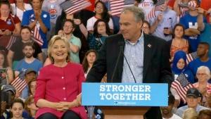 Clinton rallies in Philadelphia with Kaine