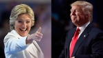 Democratic presidential nominee Hillary Clinton and Republican Presidential nominee Donald Trump are seen in this composite image.  (AP Photo/Mark J. Terrill and Paul Sancya)