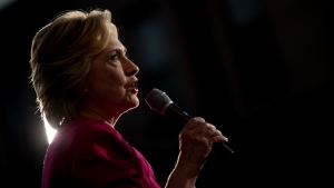 Democratic presidential candidate Hillary Clinton speaks during a rally at Broad Street Market in Harrisburg, Pa. on Friday, July 29, 2016. (AP / Andrew Harnik)