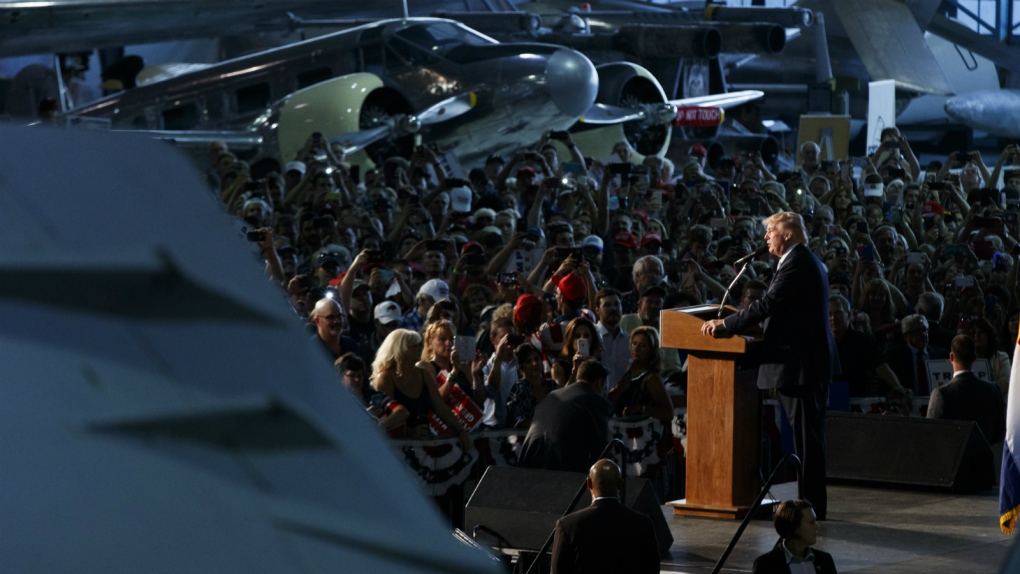 Trump presents national security ideas