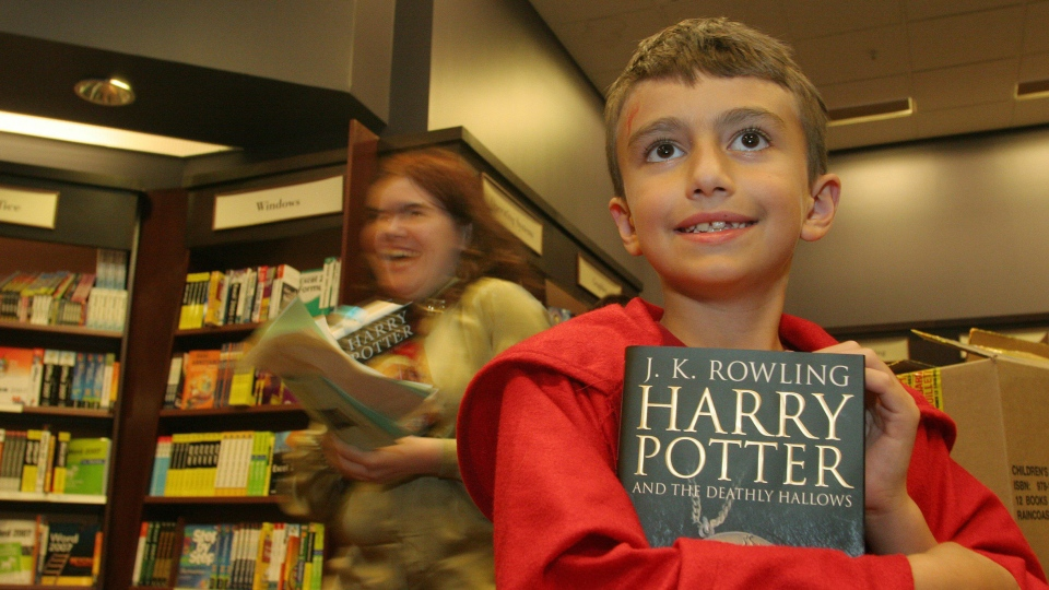 In this file photo, nine-year-old Andrew Preston was the first person in North America to receive the new Harry Potter book at Chapters in St. John's, N.L. on Friday July 20, 2007. (CP PHOTO / Rhonda Hayward) Canada