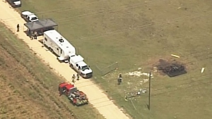 Extended: Aerial view of hot air balloon crash