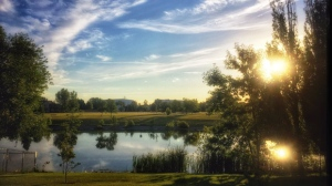 A beautiful morning scene captured at Island Lakes