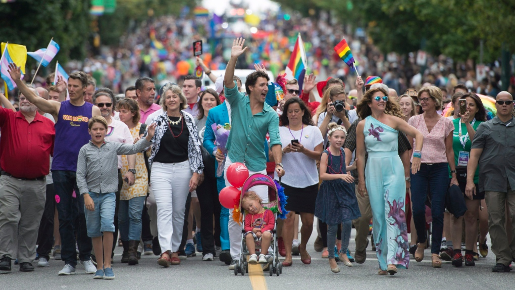 Trudeau becomes first sitting prime minister to march in Vancouver Pride parade