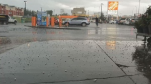 Hail caused damage in and around Calgary.