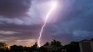 Lightning strikes east Mesa, Ariz., Friday, July 29, 2016. (Michael Chow/The Arizona Republic via AP)