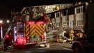 Montreal fire crews responded to a house fire at 13075 Duff St. in Pierrefonds (CTV Montreal/Cosmo Santamaria)