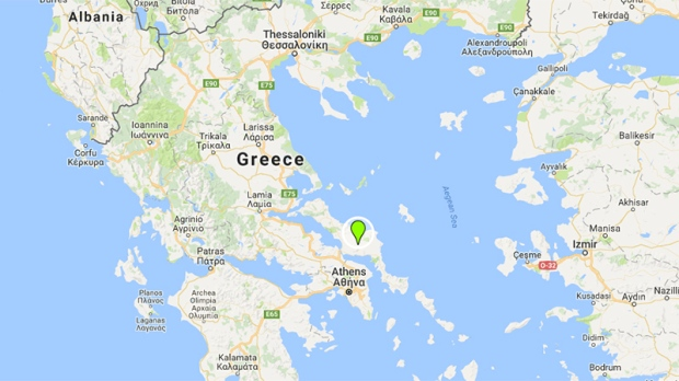 Large forest fire rages on Greek island of Evia for third day CTV News