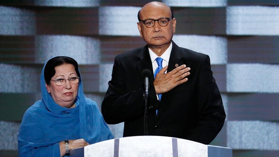 Khan family speaks at the DNC in Philadelphia