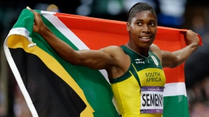 South Africa's Caster Semenya at the 2012 Summer Olympics in London, on Aug. 11, 2012. (Gregorio Borgia / Anja Niedringhaus / AP)