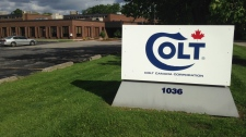 The Colt Canada factory in Kitchener is pictured on Tuesday, June 23, 2015. (Marc Venema / CTV Kitchener)