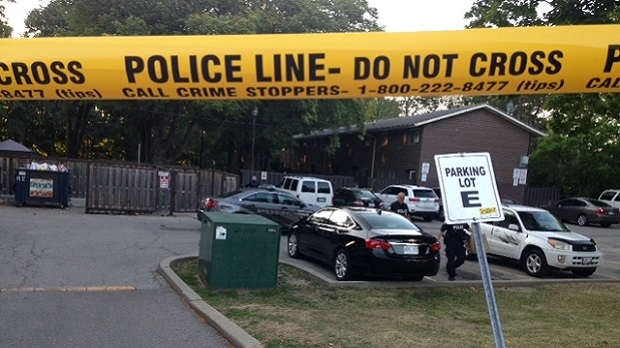 Police are investigating after a male was shot in Etobicoke overnight. (Cam Woolley/ CP24)