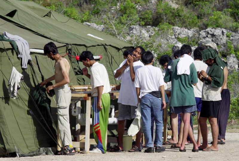 U.S. officials begin fingerprinting refugee families on Nauru