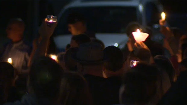 Dozens gathered outside the Signal Hill home of Natasha Gould on Thursday night, learning that the girl stricken with a rare form of brain cancer had passed away.