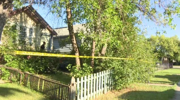 McDonald Street home taped off