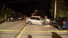 Linton Avenue car crash Coquitlam