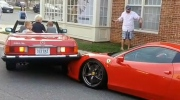 Ferrari owner returns to find car hit by classic M