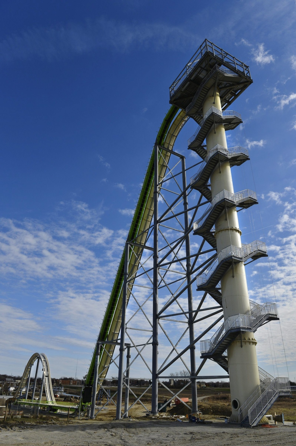 This Nov. 2013 file photo shows Schlitterbahn's new Verruckt speed slide/water coaster in Kansas City, Kan. (Jill Toyoshiba/The Kansas City Star)