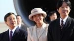 Japan's Crown Prince Naruhito, left, his wife Crown Princess Masako and his brother Prince Akishino, right, on Nov. 30, 2013. (Koji Sasahara / AP)