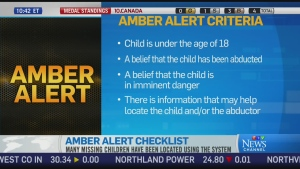 CTV News Channel: When are Amber Alerts called?