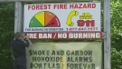 The fire danger rating in Muskoka was upgraded to