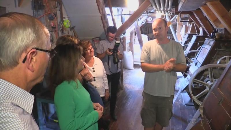 Interim Conservative Leader Rona Ambrose tours the Arva Flour Mill on Tuesday, August 9, 2016. (Marek Sutherland / CTV London)
