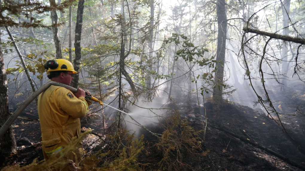 In pictures crews battle wildfires in nova scotia ctv for Battle ground lake fishing