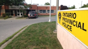 The OPP detachment in Ingersoll is pictured on Tuesday, Aug. 9, 2016. (Terry Kelly / CTV Kitchener)