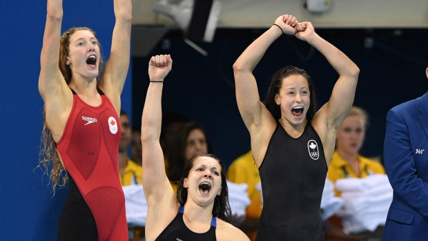 Canada wins bronze in freestyle relay