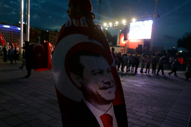 Erdogan approval rating soars after coup bid