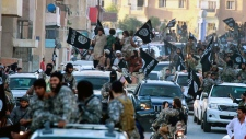 2014 image of Islamic State group parade in Raqqa