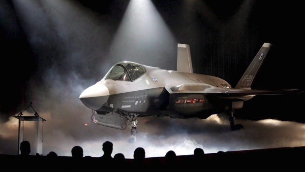 In this July 7, 2006 file photo, the Lockheed Martin F-35 Joint Strike Fighter is shown after it was unveiled in a ceremony in Fort Worth, Texas. THE CANADIAN PRESS/AP/LM Ottero