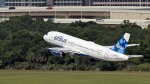 A JetBlue Airways Airbus A320-232 takes off from the Tampa International Airport on Thursday, May 15, 2014. (AP /Chris O'Meara)