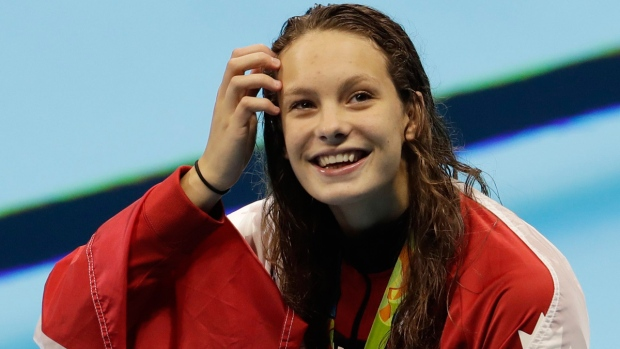 USA's Manuel, Canada's Oleksiak share 100m freestyle gold in dead heat