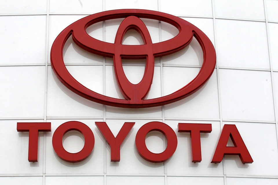 In this March 30, 2011 file photo, the Toyota logo is shown at Wilsonville Toyota, in Wilsonville, Ore. (AP / Rick Bowmer)