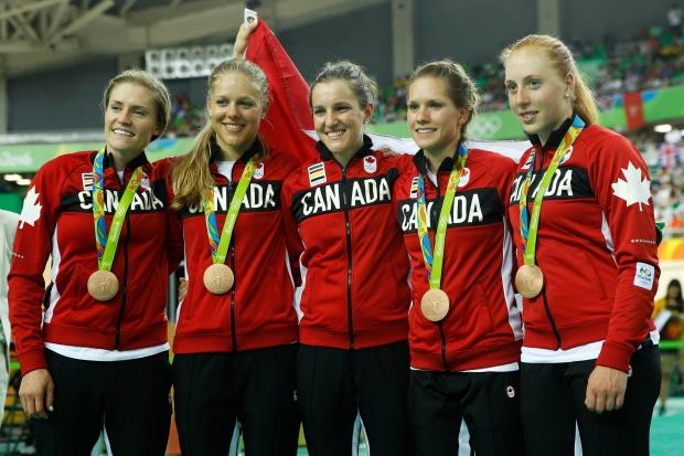 30eb294e7 Canadian women win bronze in cycling team pursuit