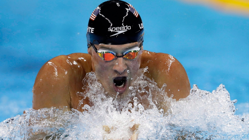 United States' Ryan Lochte competes in the men's 200-meter individual medley final during the swimming competitions at the 2016 Rio Games on Thursday, Aug. 11, 2016, in Rio de Janeiro, Brazil. (The Canadian Press/AP/Michael Sohn)