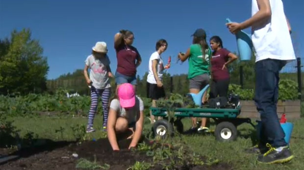 Camp Bonaventure gets kids with special needs out gardening and developing social skills.