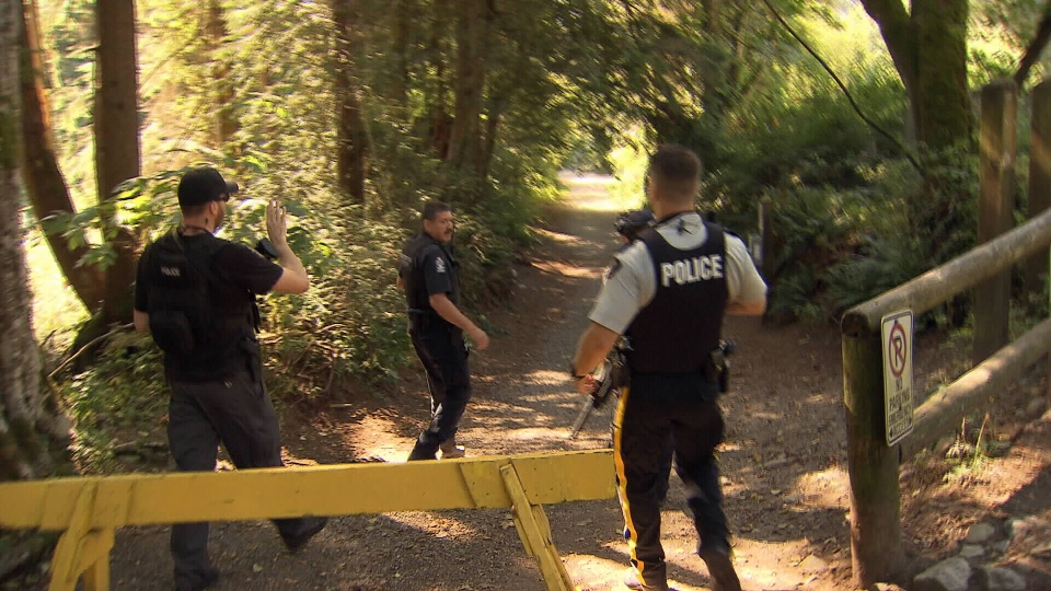 Christopher Lubell was doing his morning run in Capilano River Regional Park when he encountered the bear. (CTV News). Aug. 15, 2016.