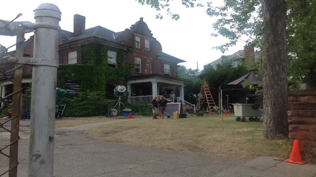 This mansion in Toronto's Riverdale neighbourhood was also used for other productions, such as CTV  show