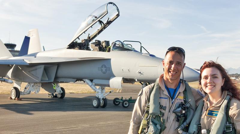 F-18 Super Hornet fighter jet