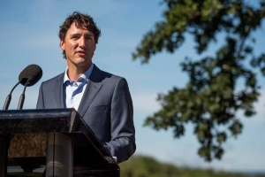 Prime Minister Justin Trudeau makes an announcement during an event in Bridgetown, N.S. on Tuesday, August 16, 2016. (THE CANADIAN PRESS / Darren Calabrese)