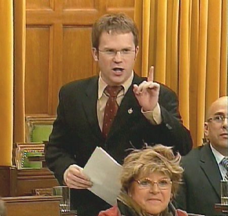Liberal MP Scott Simms speaks in the House of Commons in Ottawa, Monday, February, 25, 2008.