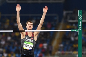 Canada's Derek Drouin wins gold medal in men's high jump at Rio 2016