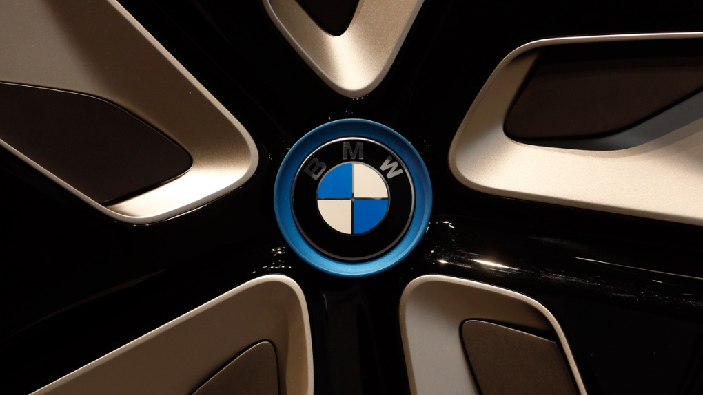 A BMW logo in Munich, Germany