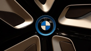 A BMW logo in Munich, Germany, on March 16, 2016. (Matthias Schrader / AP)